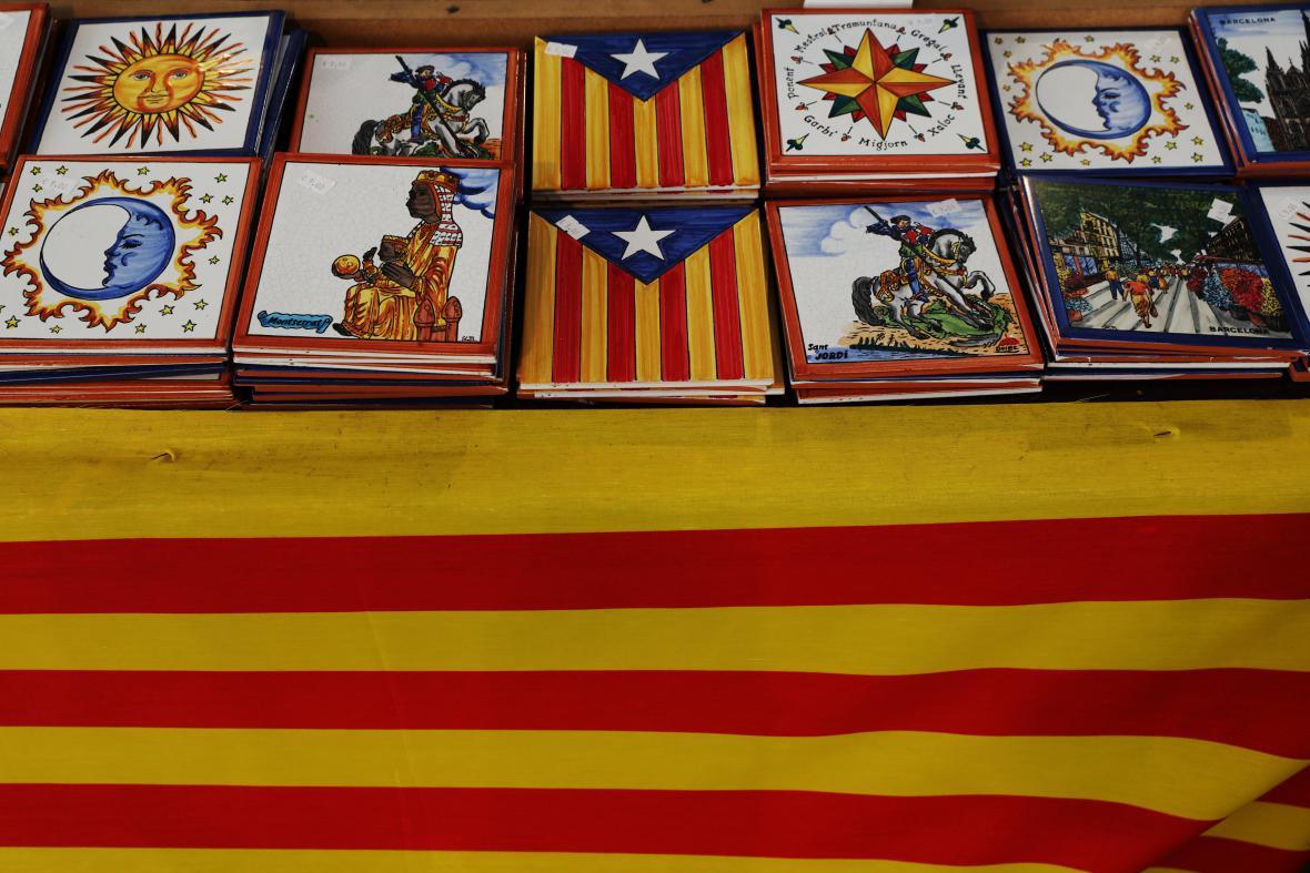 Katalánské vlajky