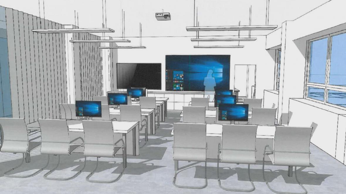 Budoucí podoba kybercentra pro studenty v Brně