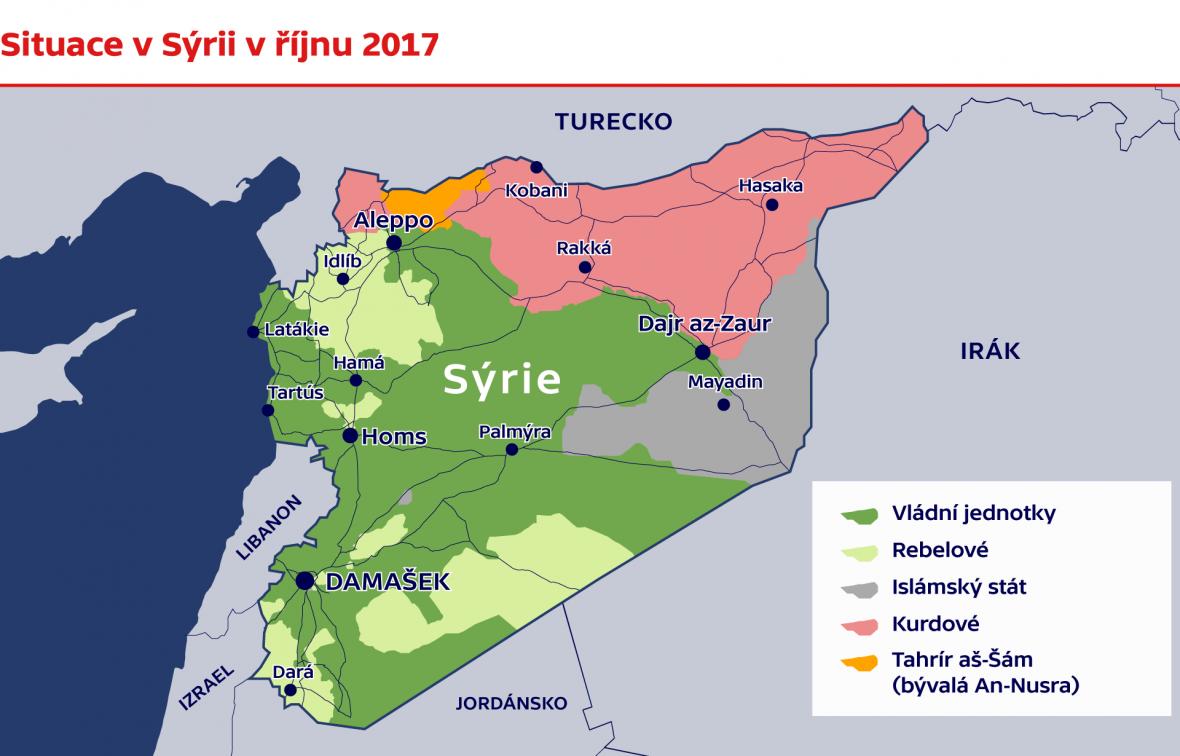 Situace v Sýrii v říjnu 2017