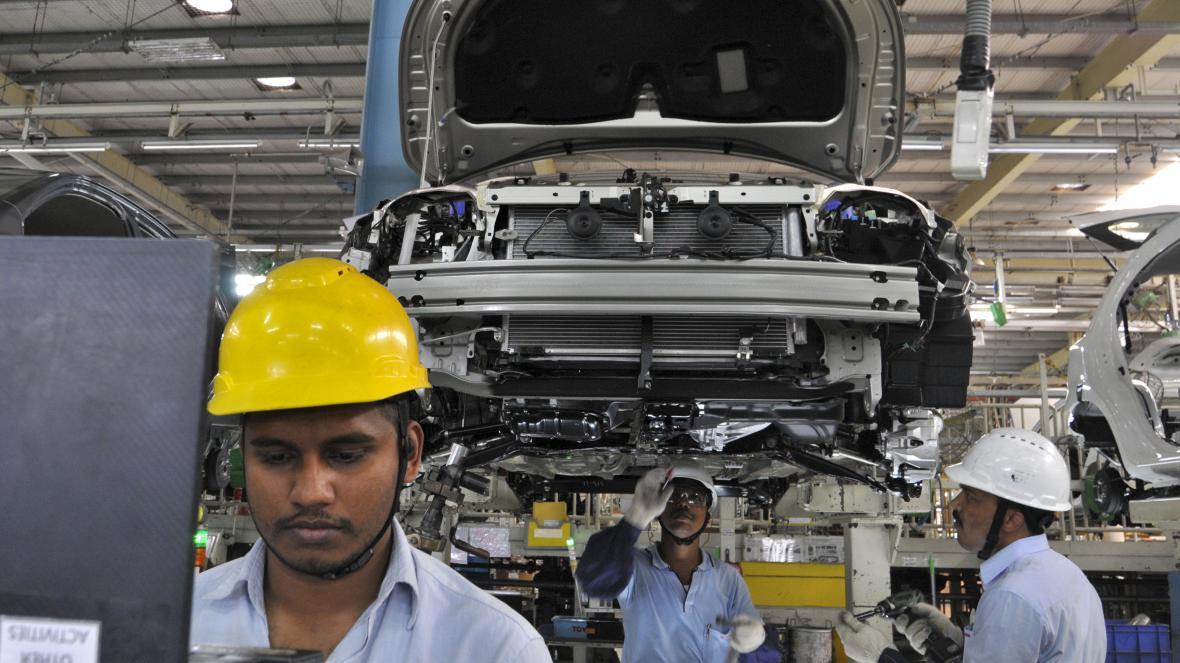 Výroba v indickém závodě automobilky Toyota