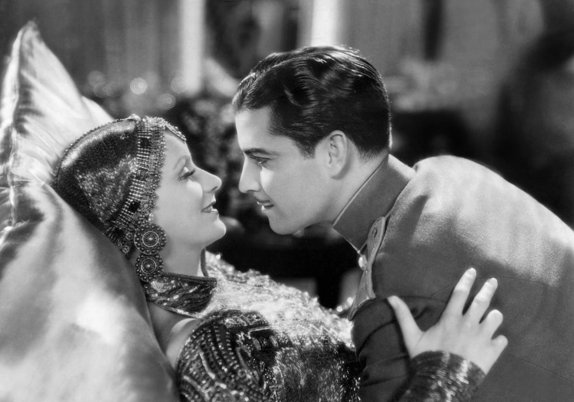 Herečka Greta Garbo jako Mata Hari