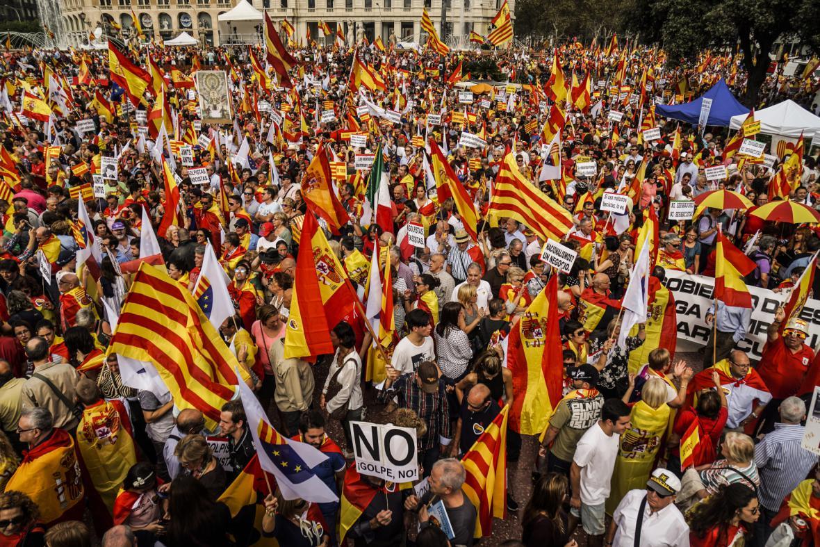 Demonstrace za jednotu země v Madridu