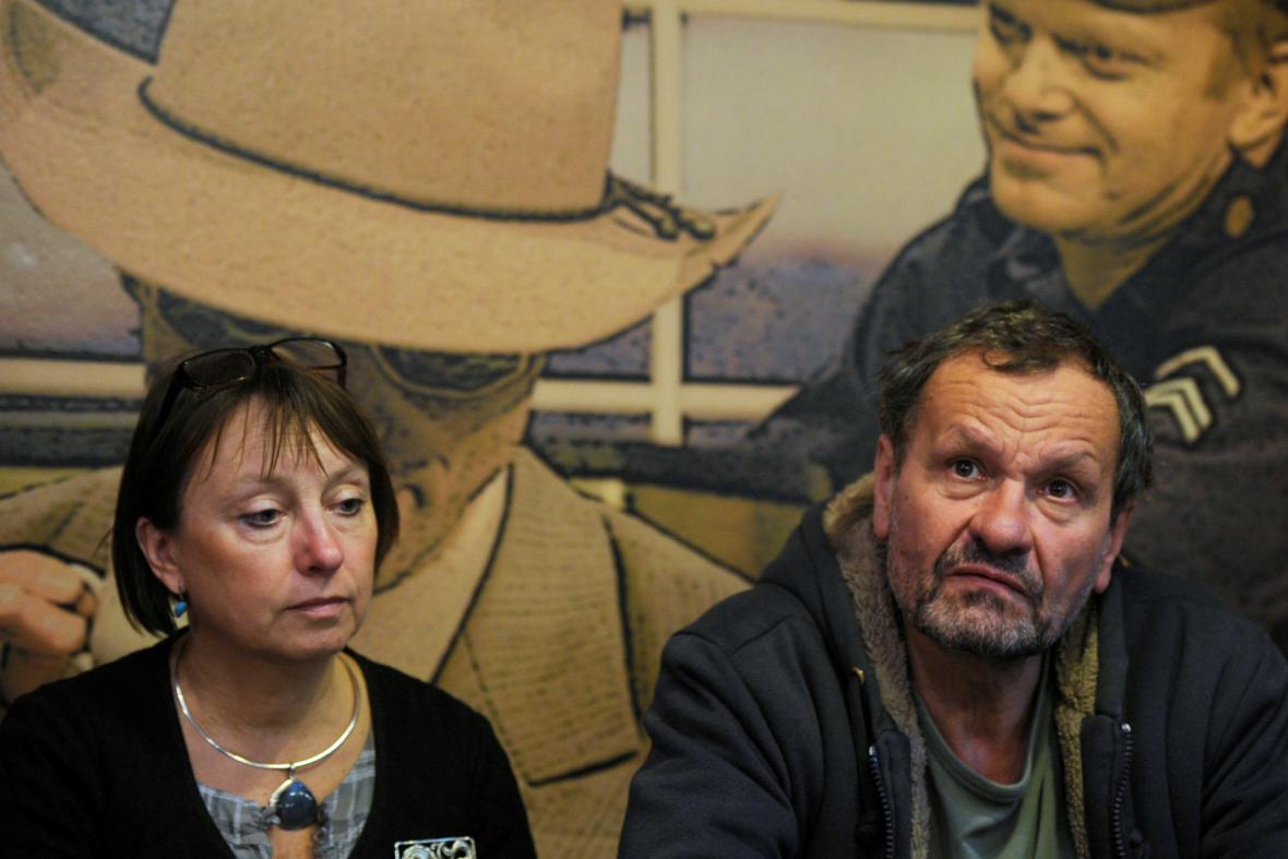 Ředitelka divadla Eva Kejkrtová Měřičková a bývalý umělecký šéf Miroslav Krobot, 2012