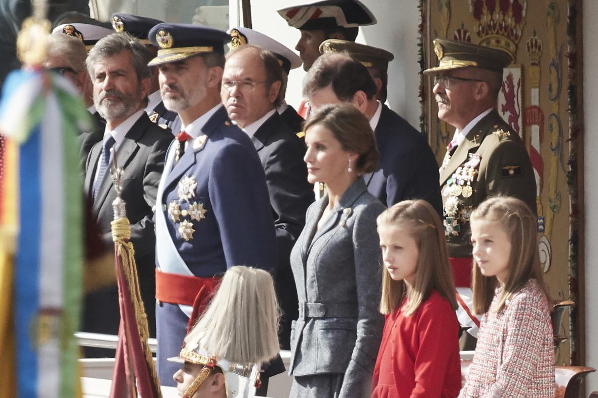 Španělská královská rodina na ceremonii