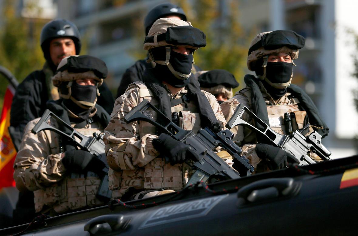 Ceremonii v Madridu střežila i armáda