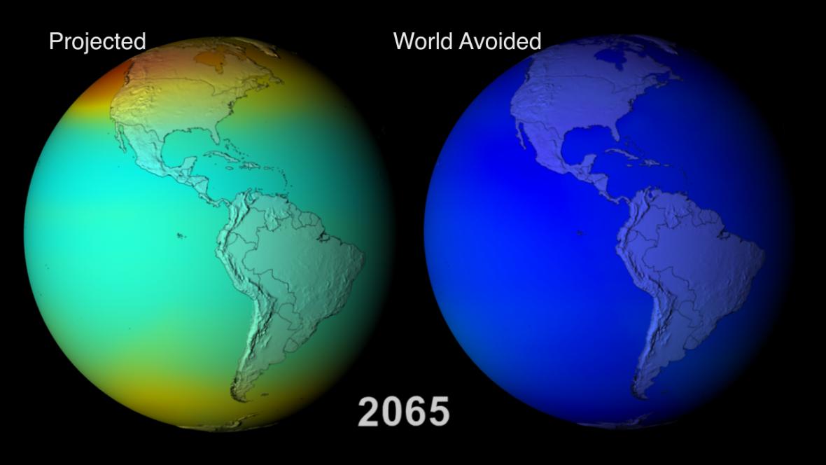 Ozonová díra v roce 2065: čemu se podařilo zabránit