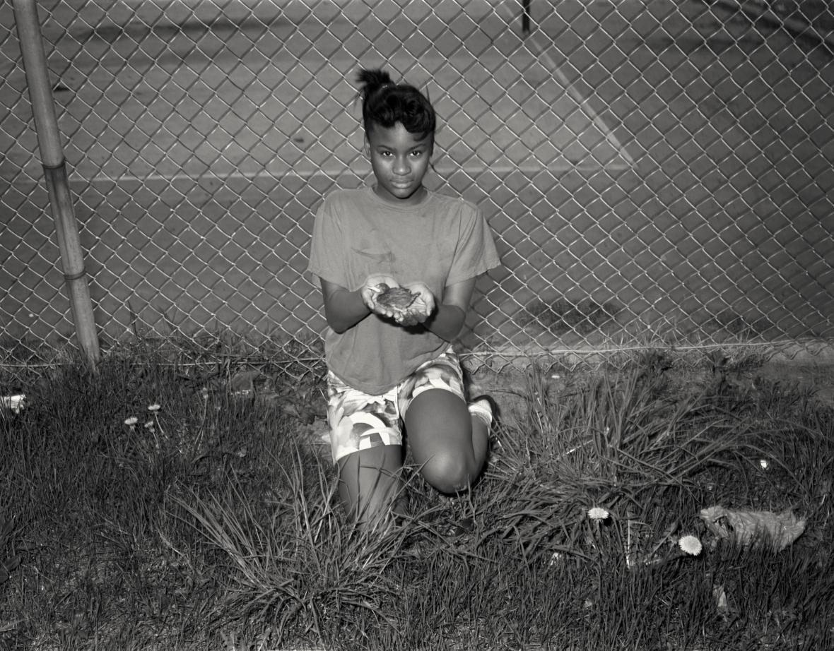 Pavel Baňka / Dívka s ptáčkem, Syracuse, USA, 1987