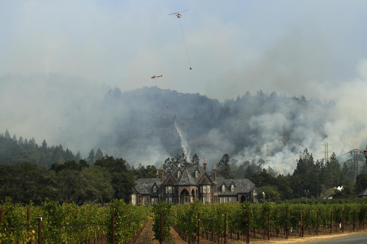 Požár v kalifornském městě Santa Rosa