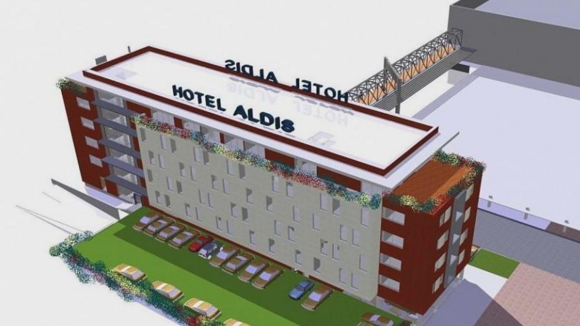 Vizualizace hotelu pro kongresové centrum Aldis