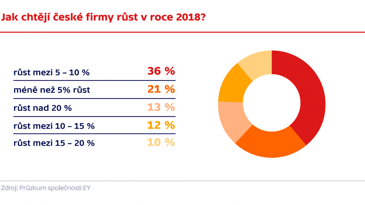 Jak chtějí české firmy růst v roce 2018?