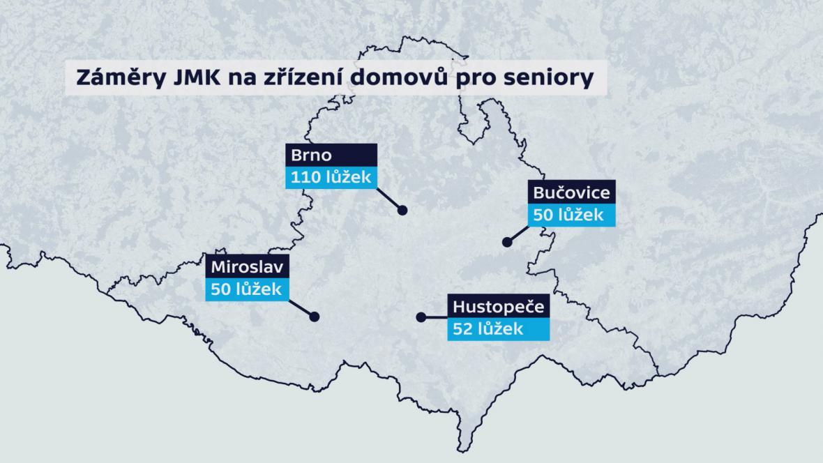 Kde by na jihu Moravy měly vzniknout nové domovy pro seniory