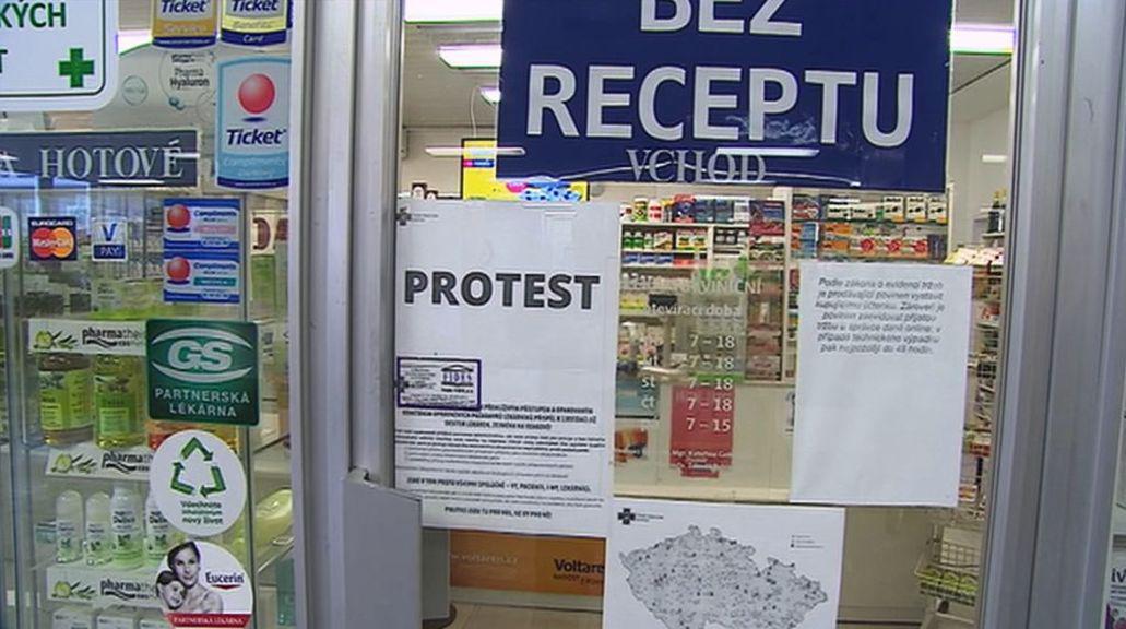 Lékárny se k protestu připojily na půl hodiny