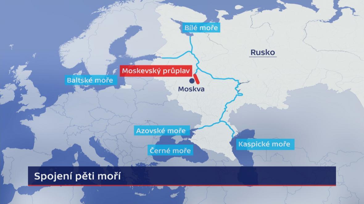 Moskevský průplav a spojení pěti moří