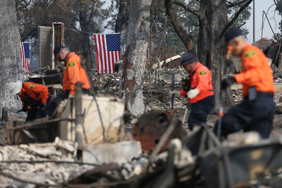Záchranné a pátrací práce v Kalifornii