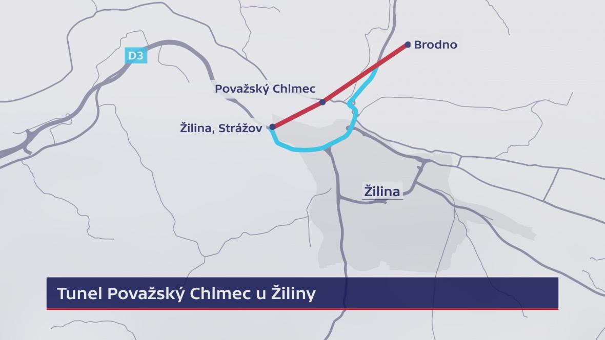 Dálniční tunel Považský Chlmec u slovenské Žiliny