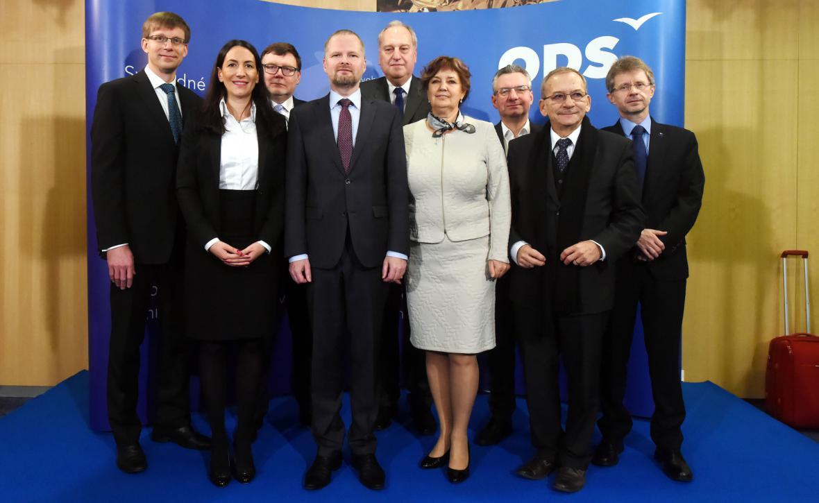Vedení ODS po sněmu v roce 2016