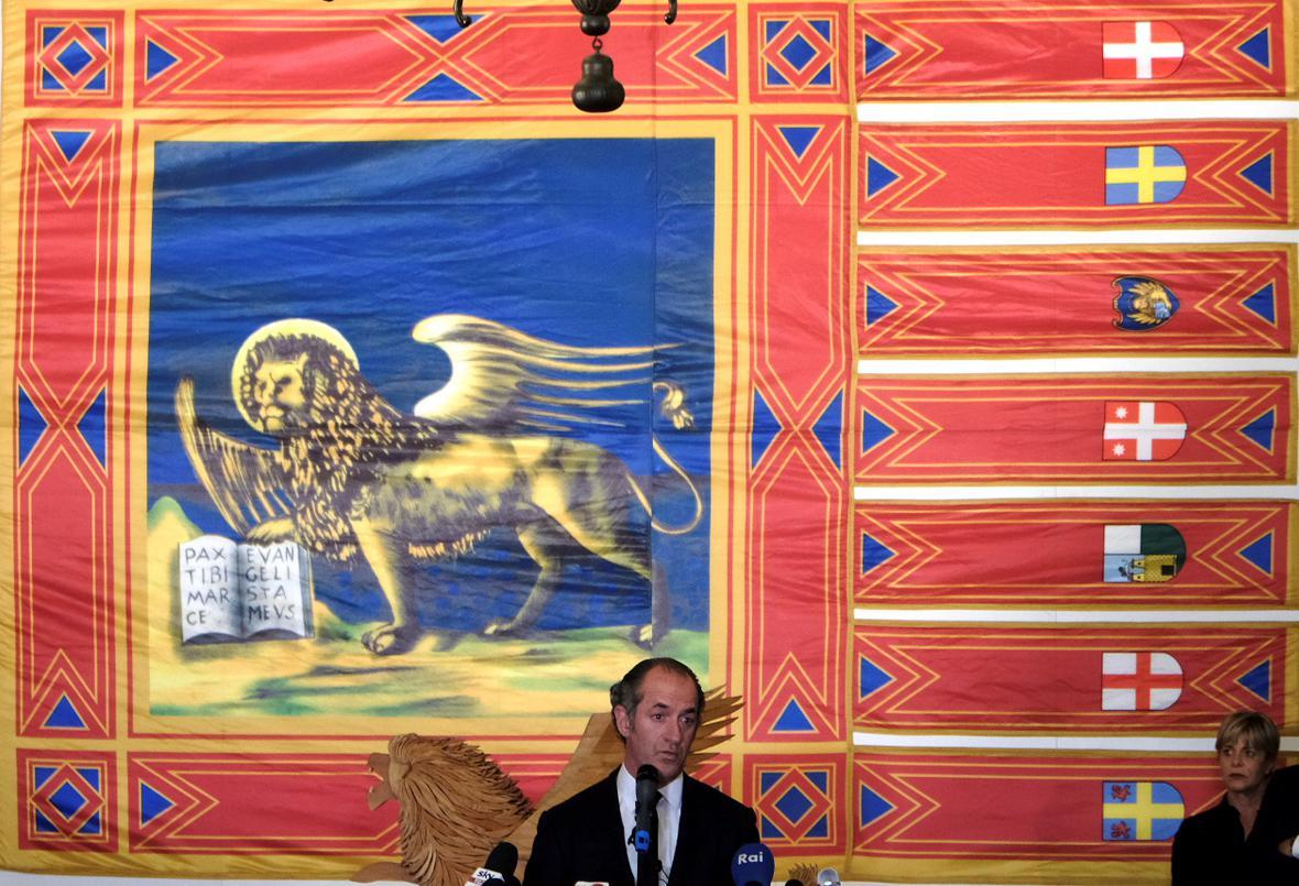 Guvernér Benátek Luca Zaia