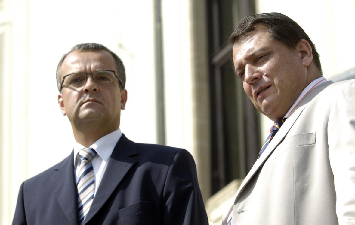 Miroslav Kalousek a Jiří Paroubek