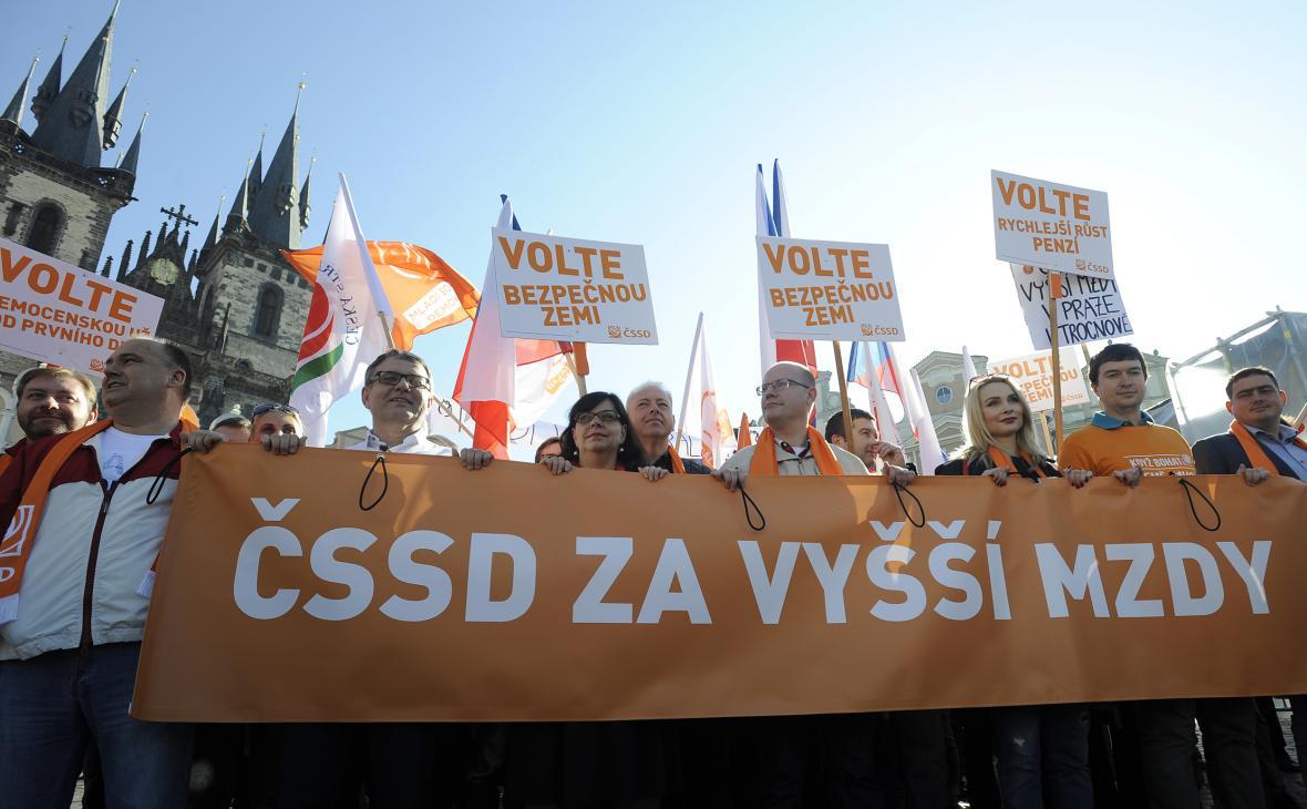 Předvolební pochod ČSSD za vyšší mzdy