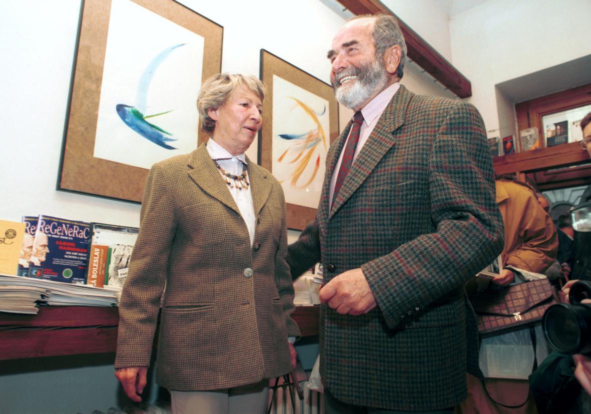 S manželkou Ivanou v roce 1995