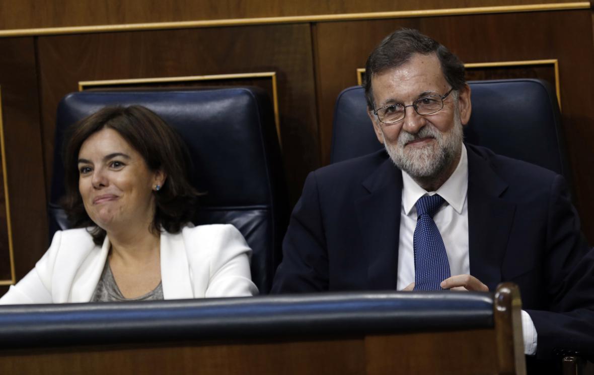 Sorraya Sáenzová a Mariano Rajoy