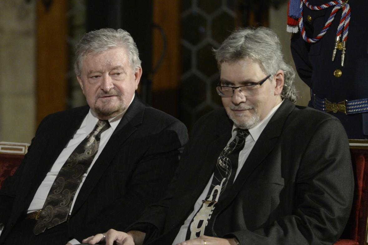Ekonom Milan Zelený a publicista Petr Žantovský