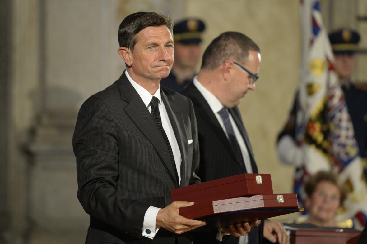 Slovinský prezident Borut Pahor převzal Řád bílého lva