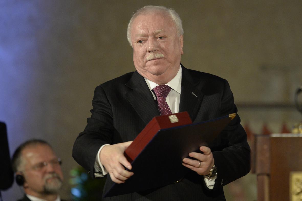 Vídeňský starosta Michael Häupl s Řádem bílého lva