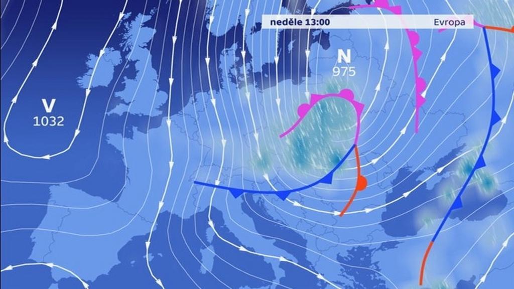 Počasí v Evropě ovlivnily tlaková níže a výše