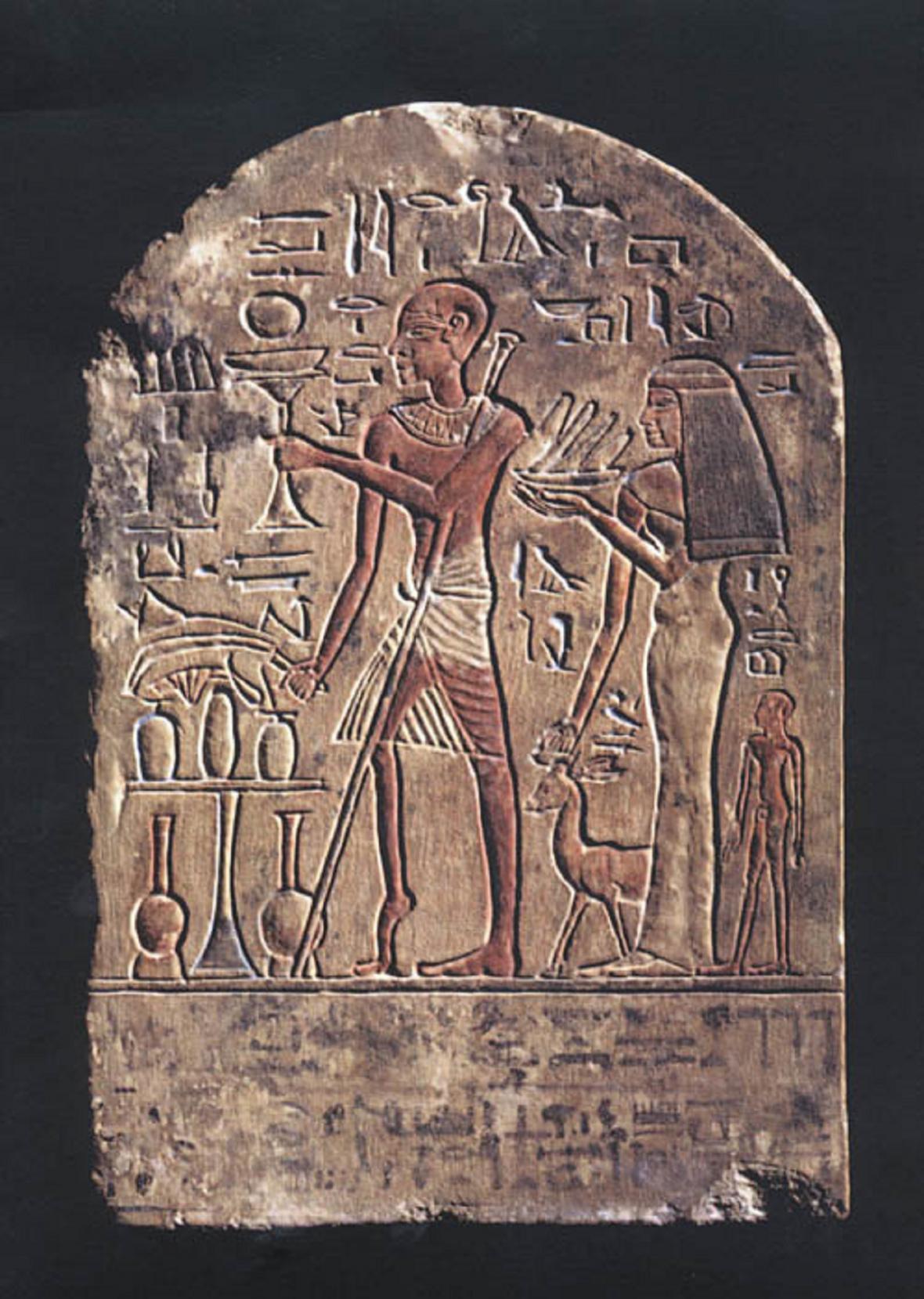 Egyptské stéla ukazuje, že tato nemoc existovala už ve starověku
