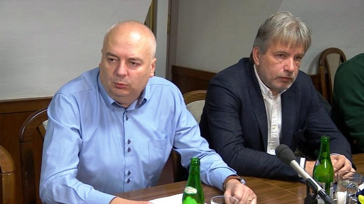 Předseda brněnské ČSSD Oliver Pospíšil a poslanec Roman Onderka