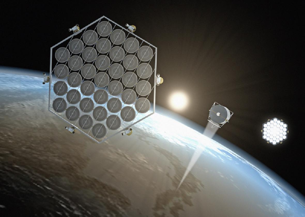 Japonský koncept solární elektrárny na oběžné dráze
