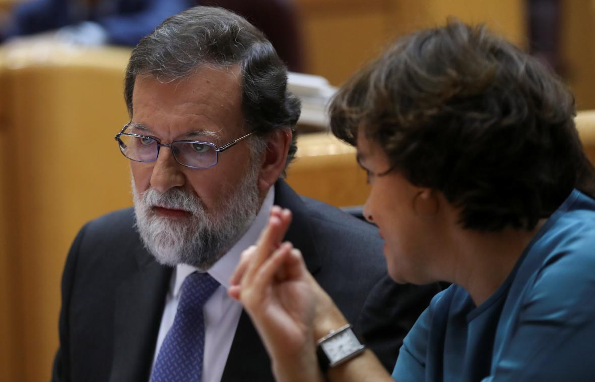 Mariano Rajoy a Soraya Sáenzová - nerozlučná dvojice španělské politiky