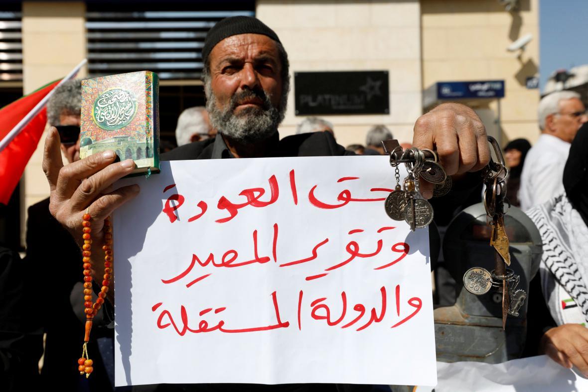 Palestinci požadují od Britů omluvu za Balfourovu deklaraci