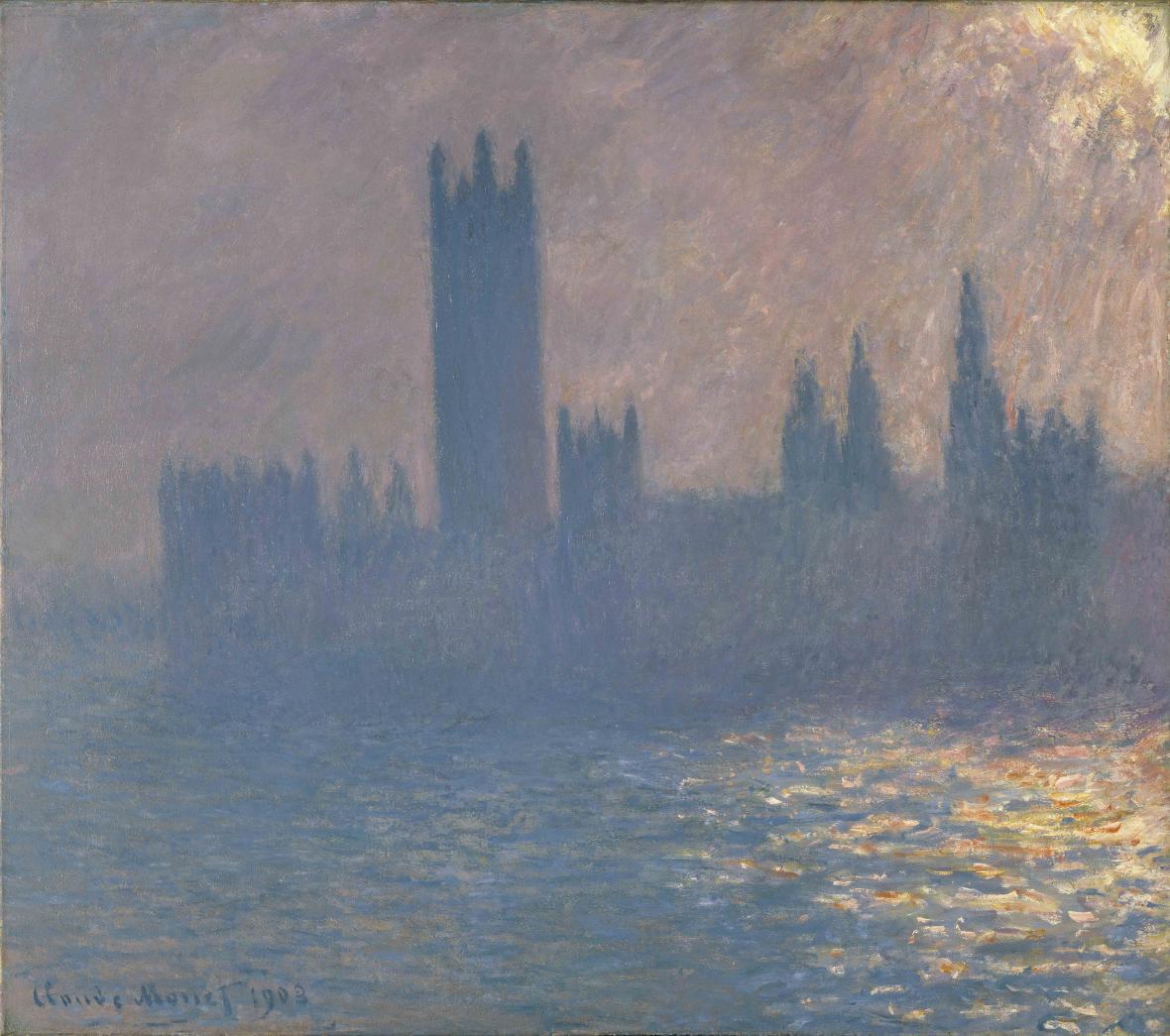 Claude Monet / Houses of Parliament, Sunlight Effect, 1903
