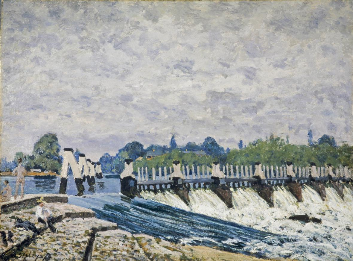 Alfred Sisley / Molesey Weir, Hampton Court, Morning, 1874