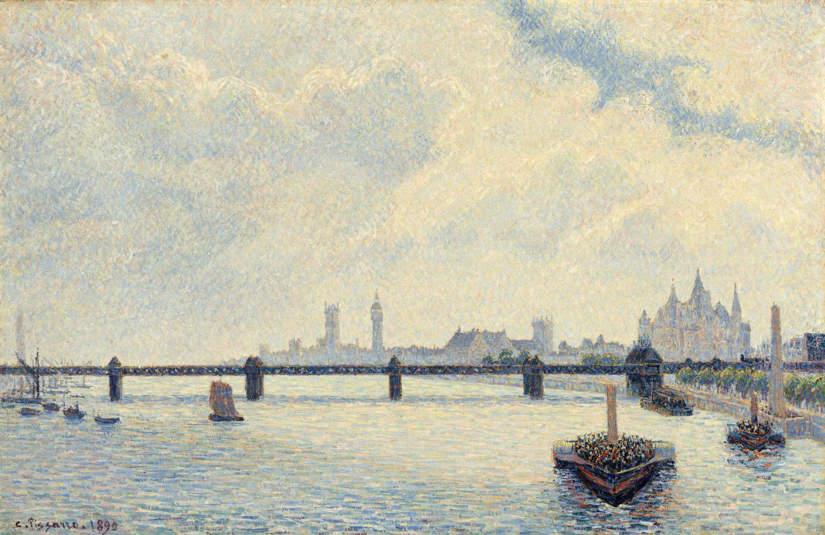 Camille Pissarro / Charing Cross Bridge, 1890