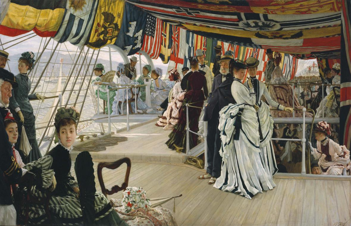 James Tissot / The Ball on Shipboard, okolo 1874
