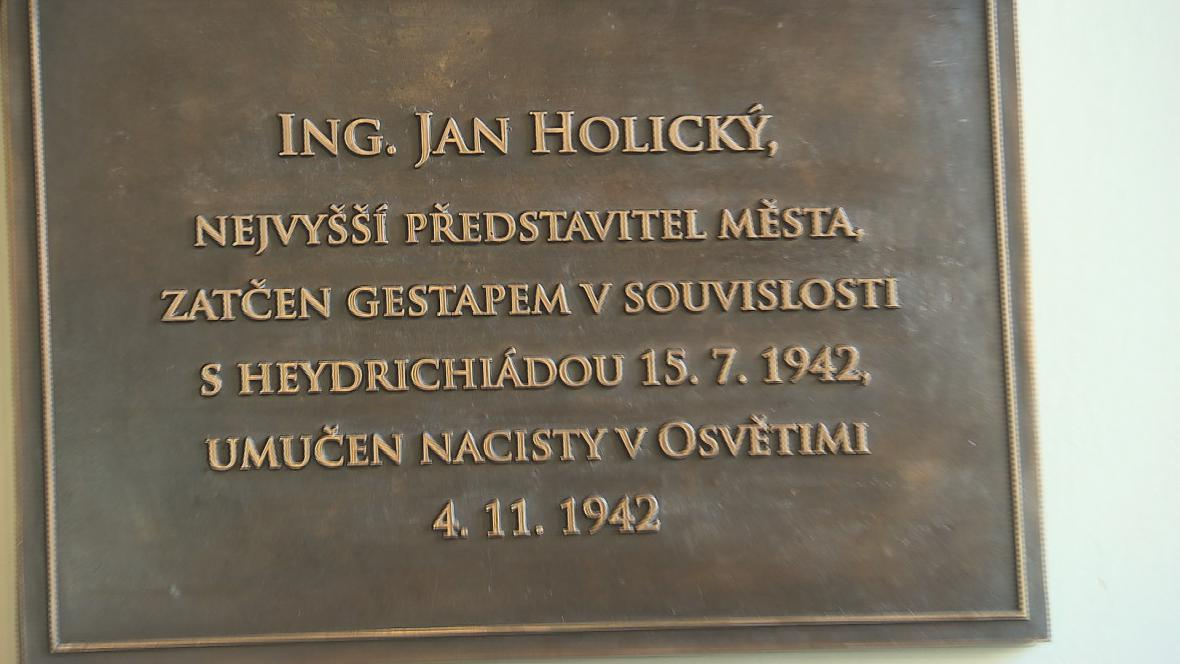 Pamětní deska Jana Holického
