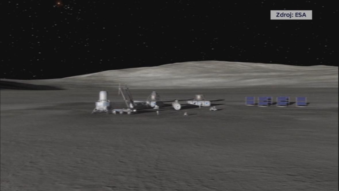 Evropská kosmická agentura sní o vesničce na odvrácené straně Měsíce.