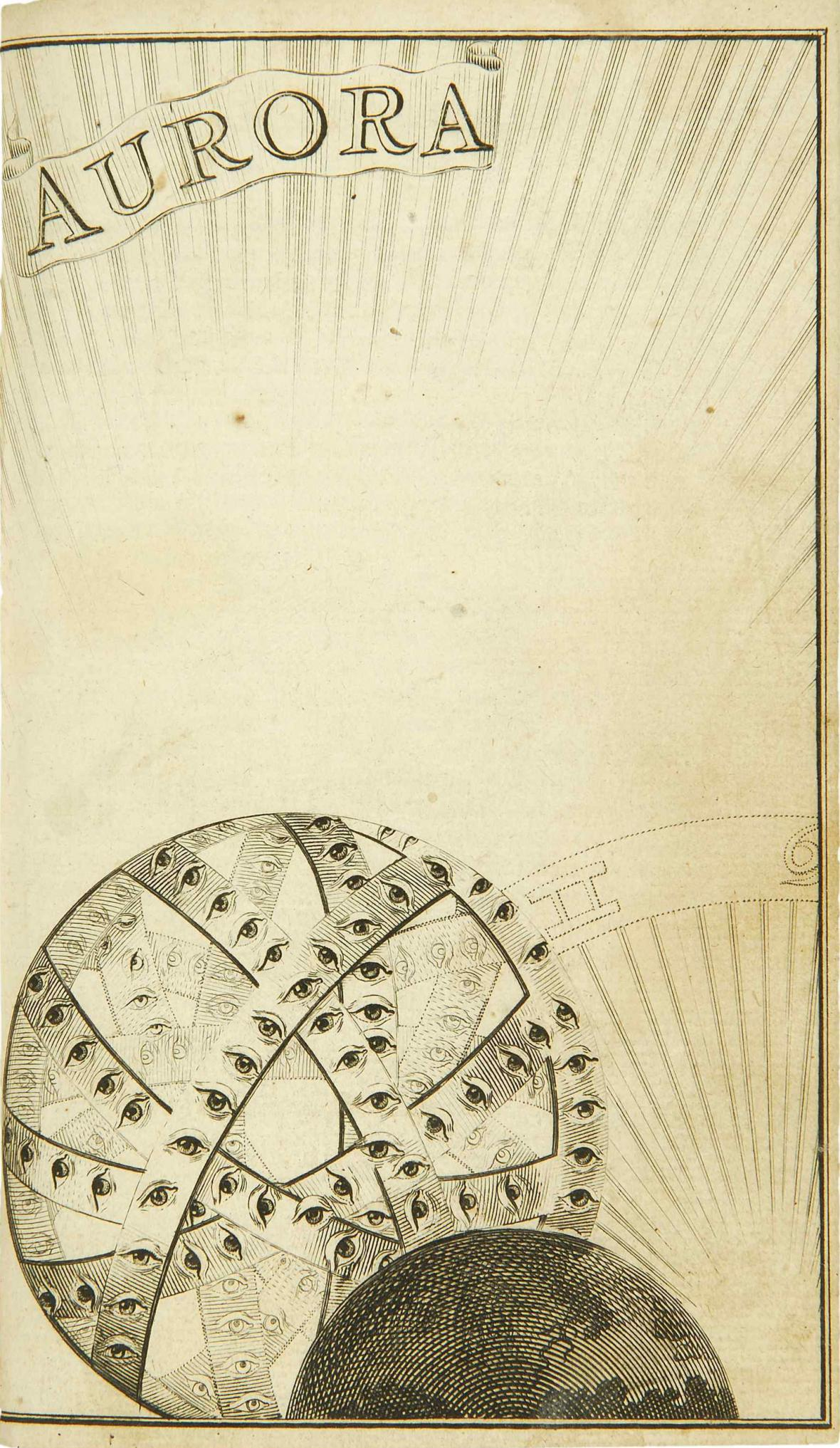 Titulní mědirytina ke spisu Aurora, 1682