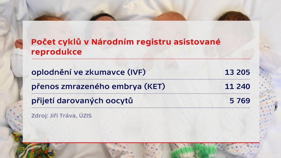 Počet IVF cyklů