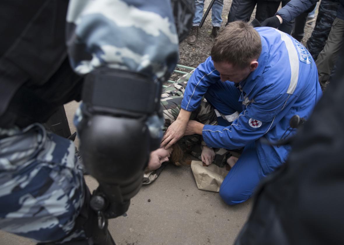 Policejní zásah v Rusku