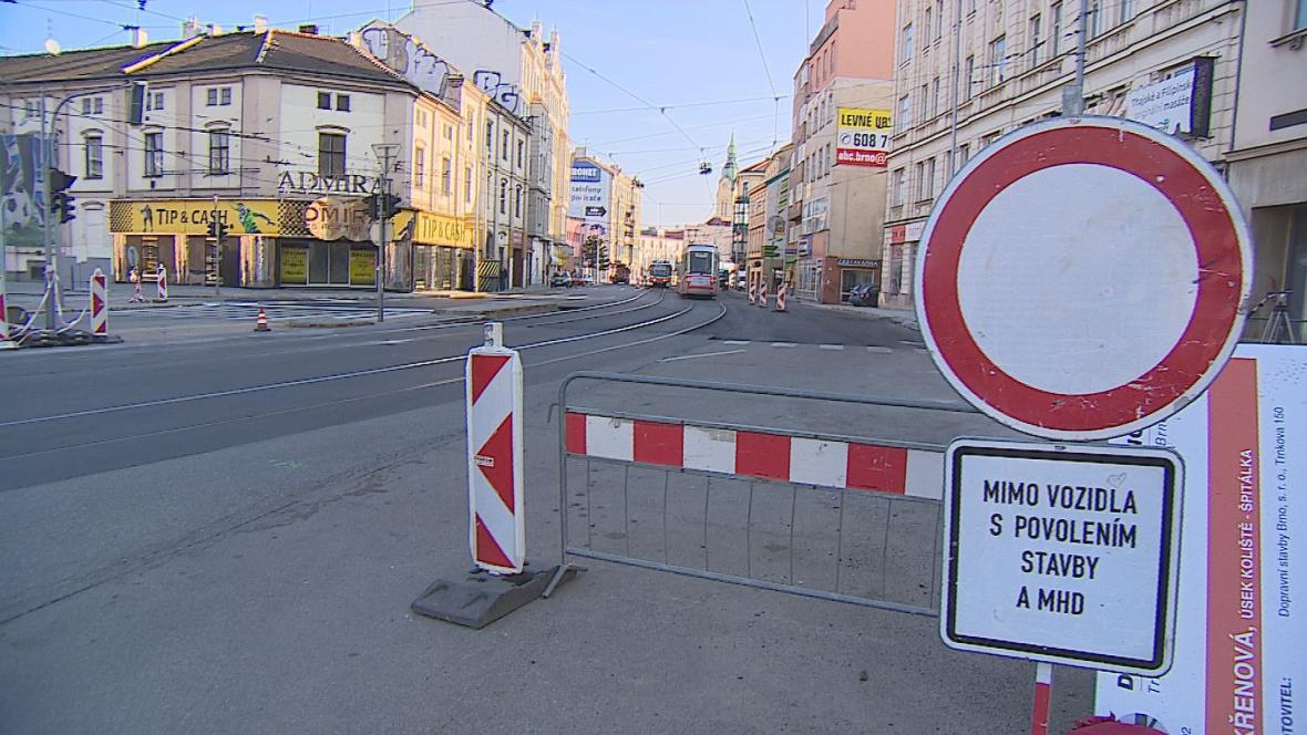 Křenová ulice se pro tramvaje otevře příští týden