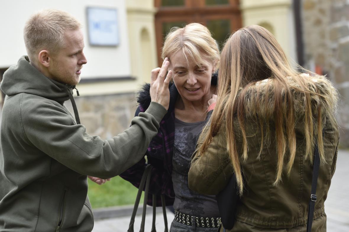 Veronika Žilková při natáčení Labyrintu III