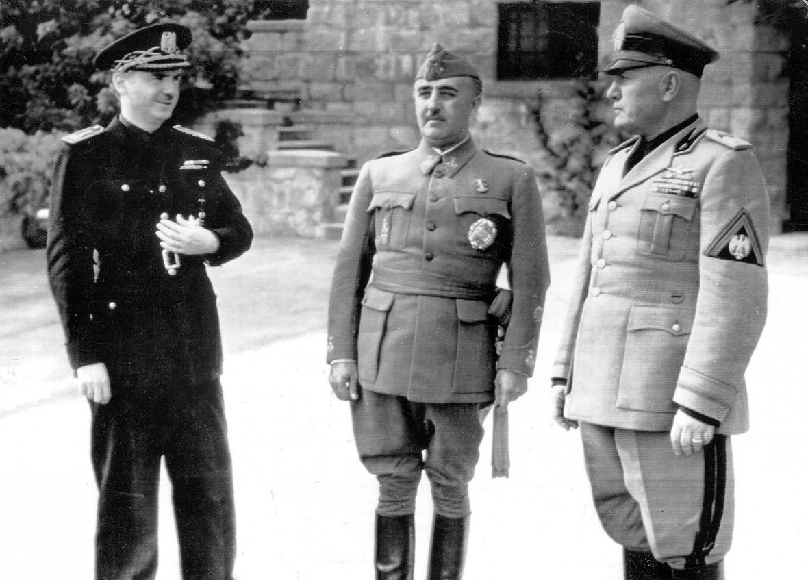 Francisco Franco a Benito Mussolini