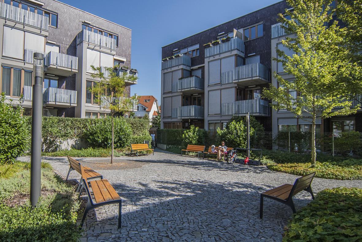 Obytný soubor na Vackově, Praha (UNIT architekti, Land05)