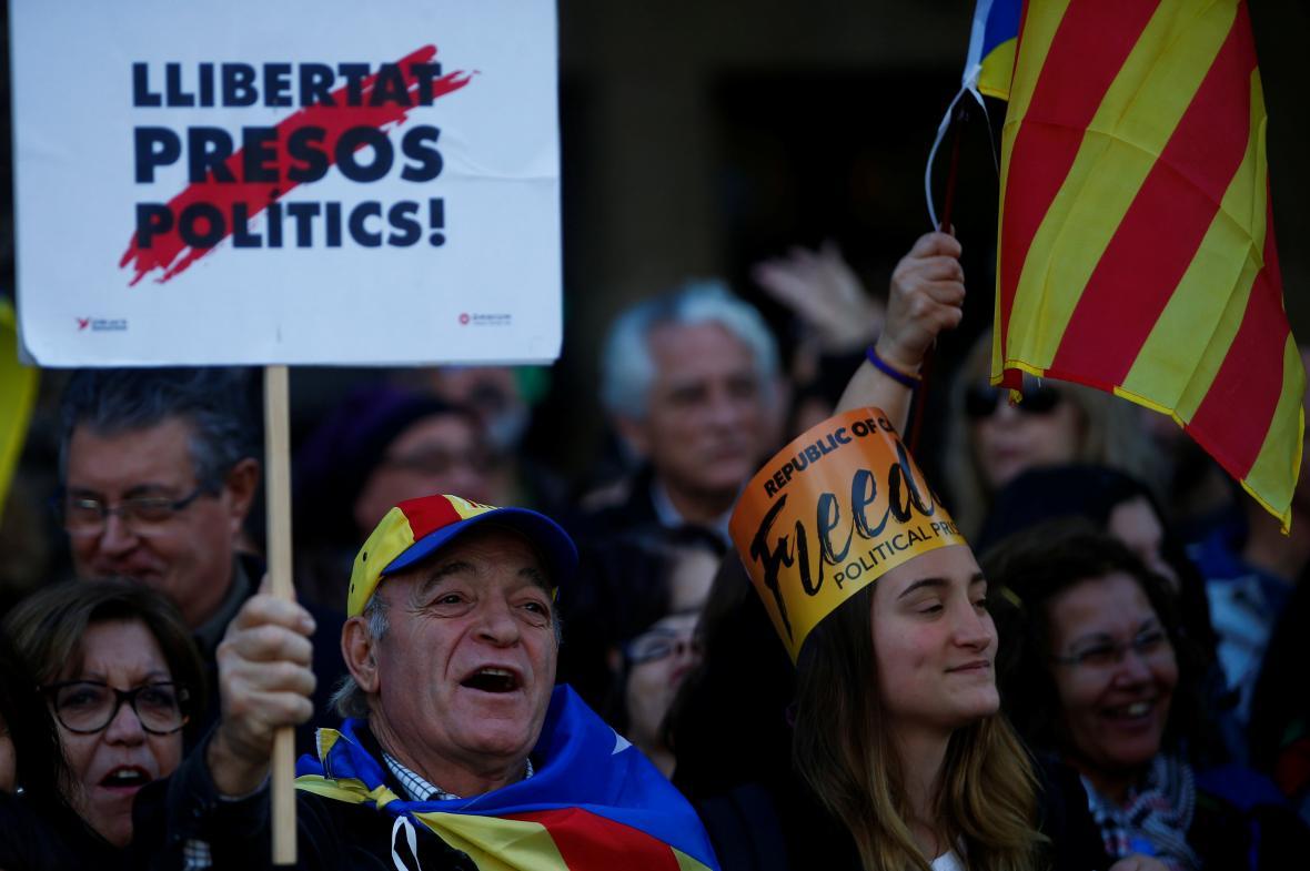 Protest proti zadržování separatistů