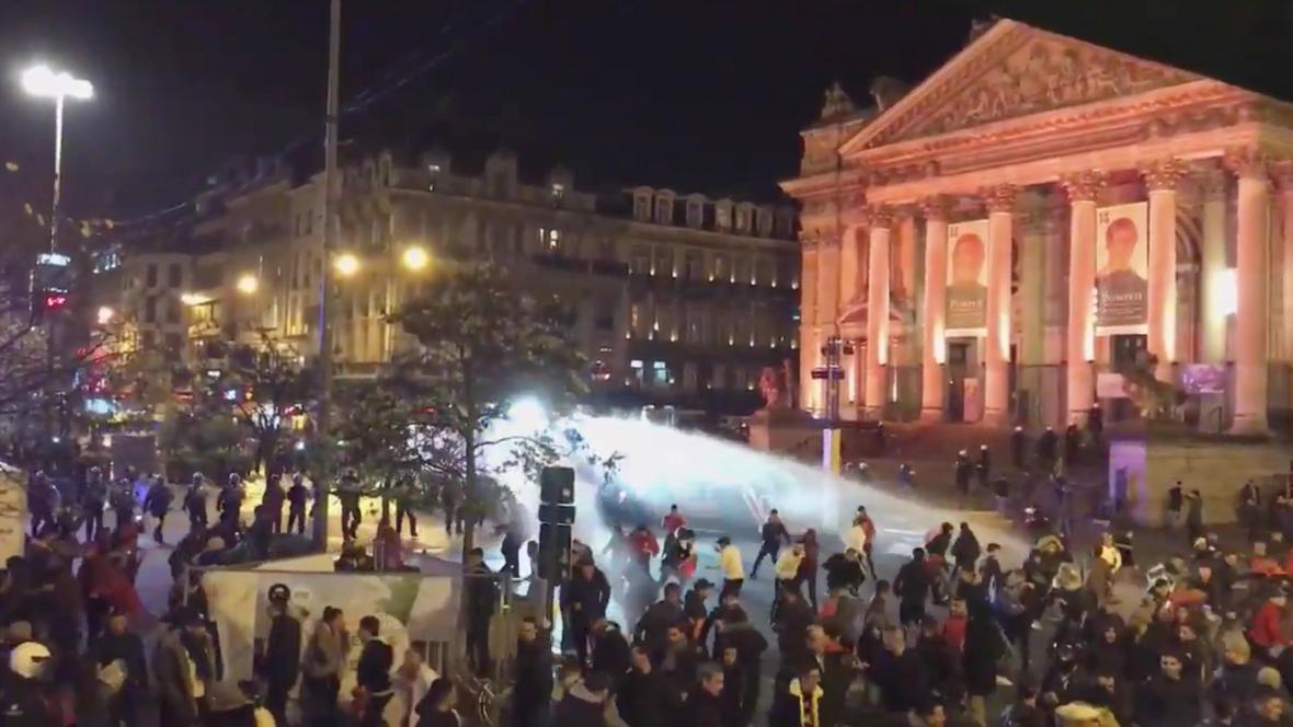 Nepokoje v centru Bruselu