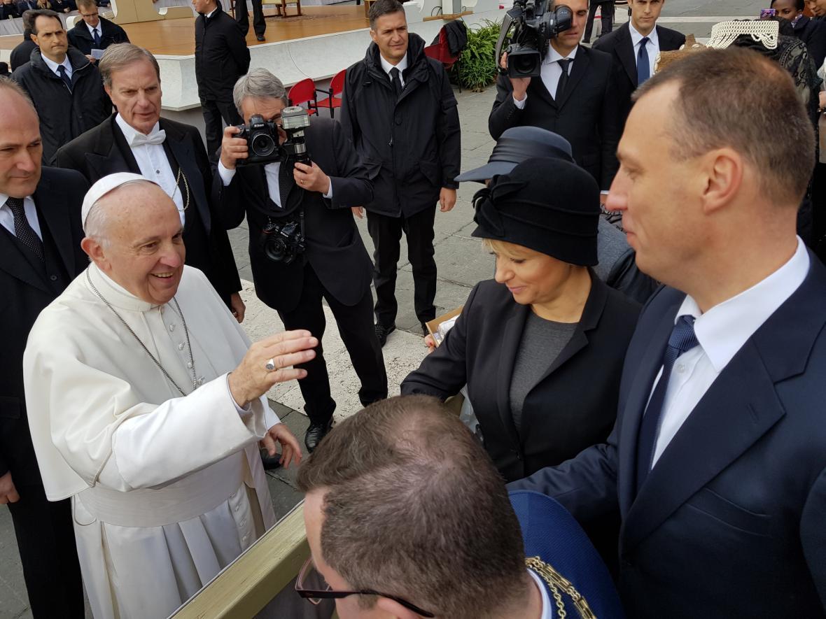 František během setkání s českou delegací